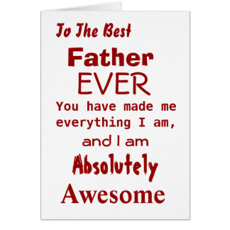 Best Father Ever Funny Father Card