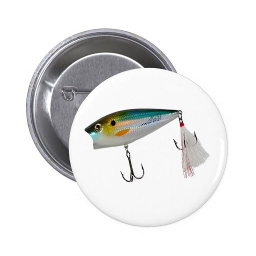 Best Fishing Baits for Bass and other fish Pinback Button