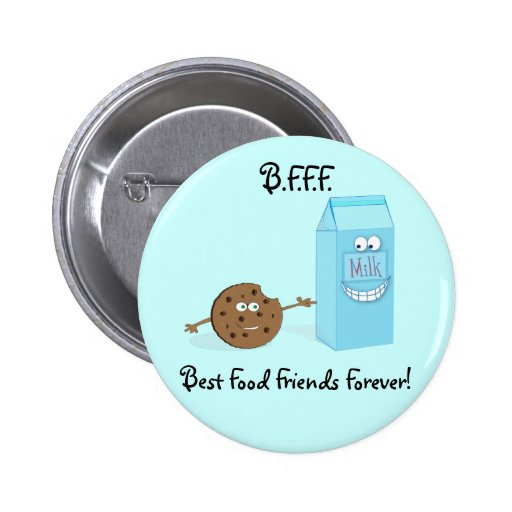Best Food Friends Forever Button