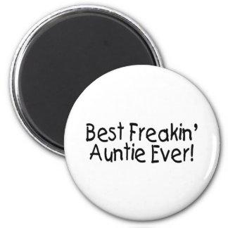 Best Freakin Auntie Ever 6 Cm Round Magnet