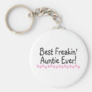 Best Freakin Auntie Every Basic Round Button Key Ring