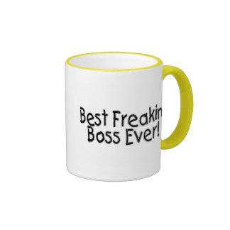 Best Freakin Boss Ever Ringer Mug