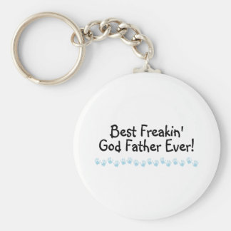 Best Freakin God Father Ever Basic Round Button Key Ring