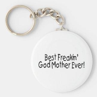 Best Freakin God Mother Ever 2 Key Ring
