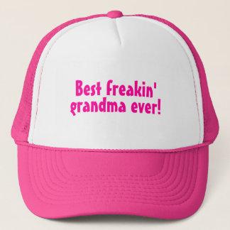 Best Freakin Grandma Ever (Pink) Trucker Hat