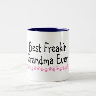 Best Freakin Grandma Ever Two-Tone Mug