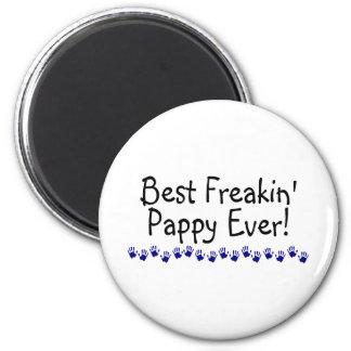 Best Freakin Pappy Ever 6 Cm Round Magnet
