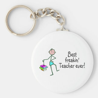 Best Freakin Teach Ever Basic Round Button Key Ring