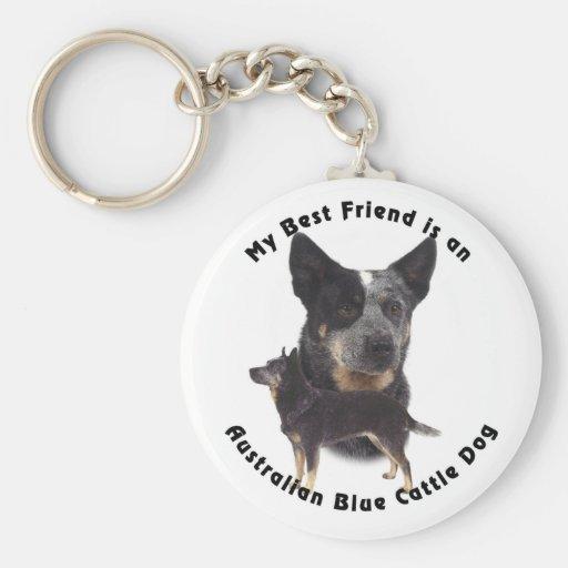 Best Friend Australian Blue cattle Dog Key Chains