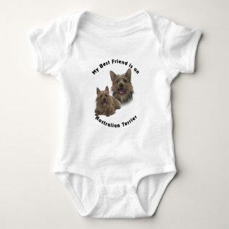 Best Friend Australian terrier Baby Bodysuit