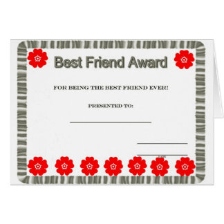 ***BEST FRIEND AWARD*** FOR YOUR BIRTHDAY! CARD