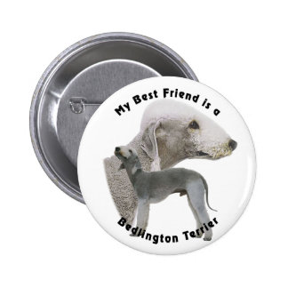 Best friend Bedlington Terrier 6 Cm Round Badge