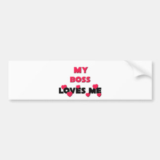 Best Friend Boss Bumper Sticker
