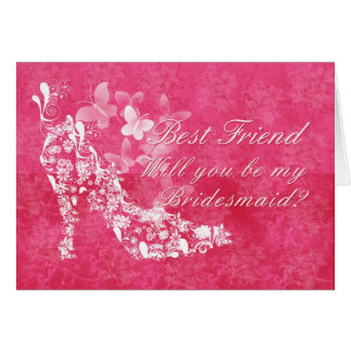 Best Friend Bridesmaid, will you be my Bridesmaid Greeting Card