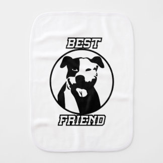 Best friend burp cloth