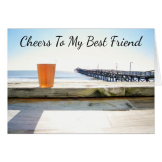 "***BEST FRIEND*** ""CHEERS ON YOUR BIRTHDAY"" CARD"