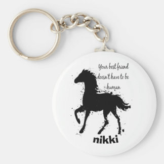 Best Friend Doesn't have to be Human Horse Custom Key Ring