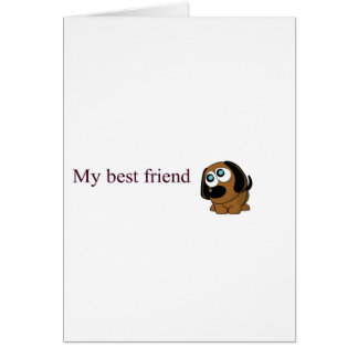 Best friend dog greeting card