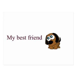 Best friend dog postcard