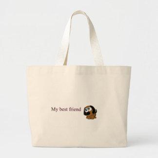 Best friend dog jumbo tote bag