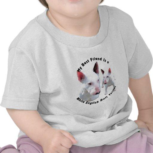 Best Friend English Bull Terrier White Tee Shirt