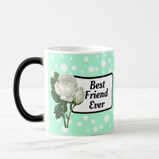 Best Friend Ever Green Polka Dotted Coffee Mug