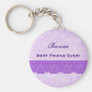 Best Friend Ever Orchid Purple F430 Key Ring