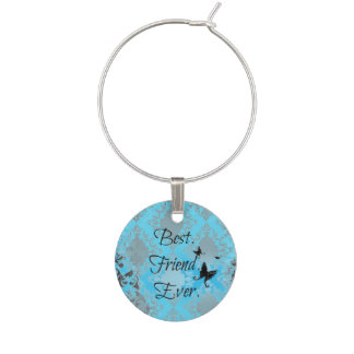 Best Friend Ever Wine Charm