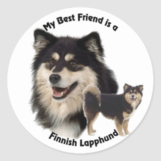 Best Friend Finnish Lapphund Classic Round Sticker