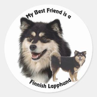 Best Friend Finnish Lapphund Classic Round Sticker