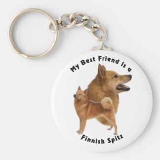 Best Friend Finnish Spitz Basic Round Button Key Ring