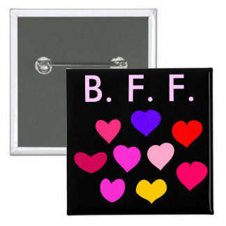 Best Friend Forever 15 Cm Square Badge