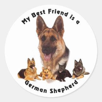 Best Friend German Shepherd Sticker
