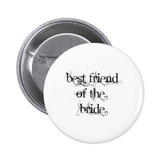 Best Friend of the Bride 6 Cm Round Badge