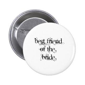 Best Friend of the Bride 6 Cm Round Badge