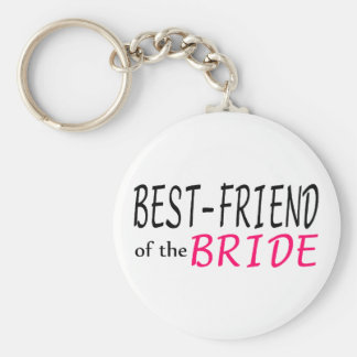 Best Friend Of The Bride Basic Round Button Key Ring