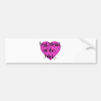 Best Friend of the Bride Bumper Sticker