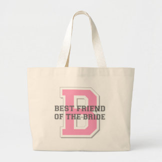 Best Friend of the Bride Cheer Large Tote Bag