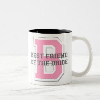 Best Friend of the Bride Cheer Two-Tone Coffee Mug