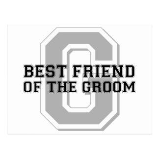 Best Friend of the Groom Cheer Postcard