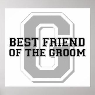 Best Friend of the Groom Cheer Posters