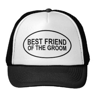 Best Friend of the Groom Wedding Oval Mesh Hats