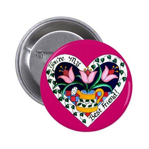 Best Friend Pin Button