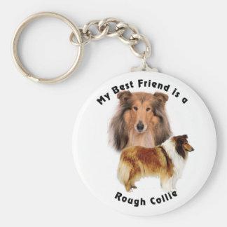 Best Friend Rough Collie Key Chains