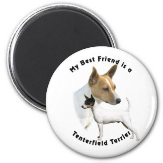 Best Friend Tenterfield Terrier 6 Cm Round Magnet