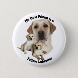 Best Friend Yellow Labrador 6 Cm Round Badge