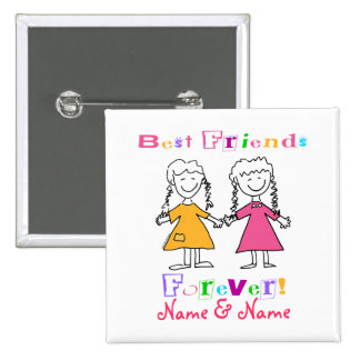 Best Friends 15 Cm Square Badge