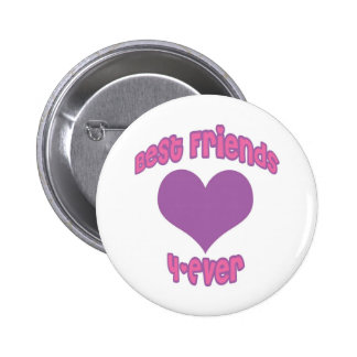 Best Friends 4-Ever 6 Cm Round Badge