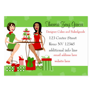 Best Friends and Cupcakes Christmas Pack Of Chubby Business Cards