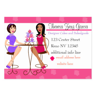 Best Friends and Cupcakes Pack Of Chubby Business Cards